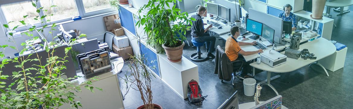 Großraumbüro der DMTpe in Nufringen aus der Vogelperspektive.