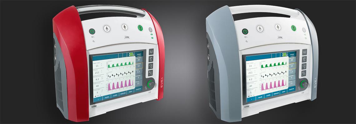 Zwei Beatmungsgeräte für die Notfallmedizin sowie für die Langzeitbeatmung und den